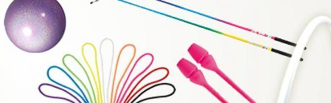 Sasaki professional accessories for rhythmic gymnastics.