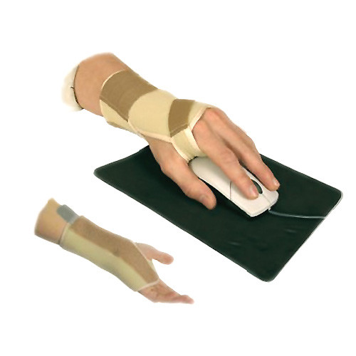 Elastic medical wrist joint bandage support, with removable metallic plate