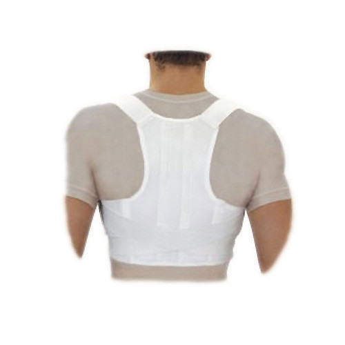 Elastic medical lower back posture corrector, with stiff inserts