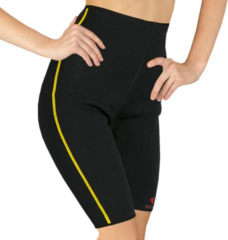 Elastic medical neoprene shorts for support and warming of hip and thigh joints