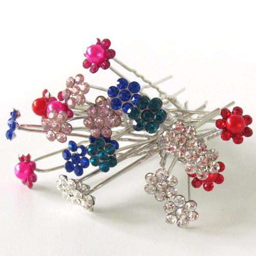Hair flower pin
