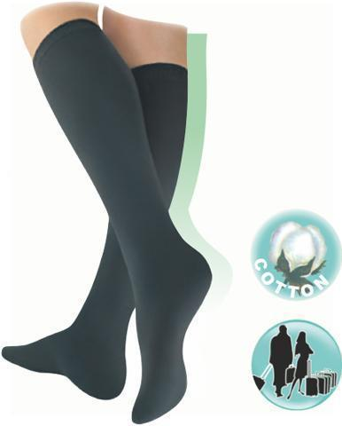 Elastic medical compression long socks, with toecap, unisex
