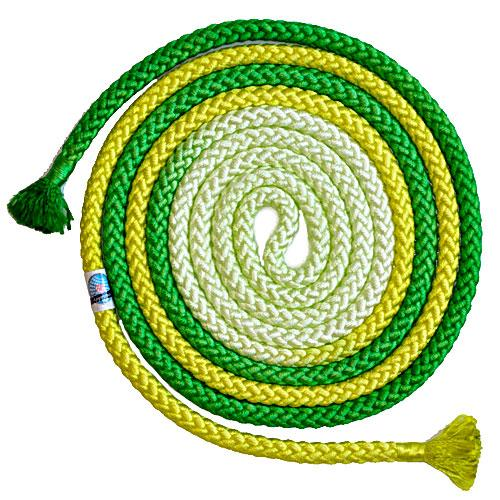Tri-color Rope for rhythmic gymnastics